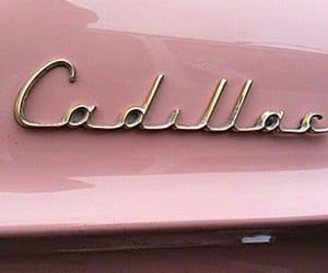 pink, cadillac, and car image
