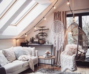 cozy, interior, and oblique roof image