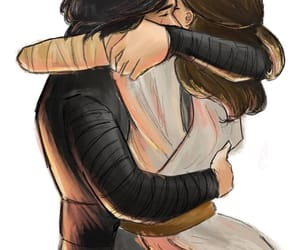 starwars, reylo, and rey image