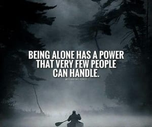 alone and people image