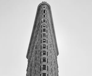 architecture, black and white, and manhattan image