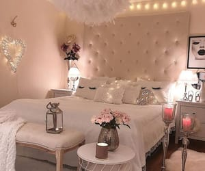 bedroom, candles, and lights image