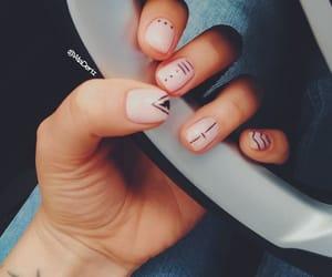 minimalistic, nailart, and nailpolish image