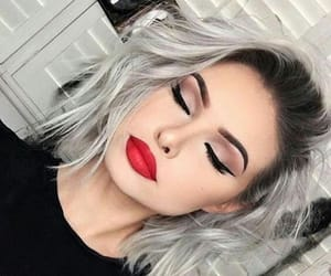 brown, elegant, and makeup image