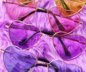 sunglasses, pink, and purple image