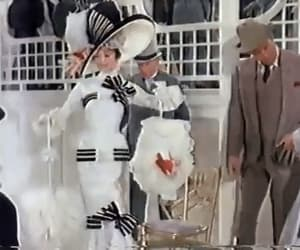 audrey hepburn, gif, and my fair lady image