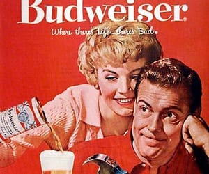 beer, Budweiser, and poster image