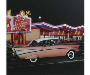 1950s, retro restaurant, and car image