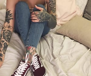 Tattoos, beautiful, and woman image