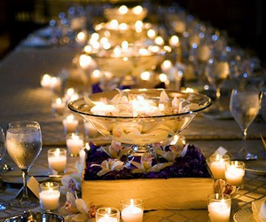 candle, light, and wedding image