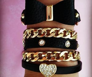 accessories, gold, and black image