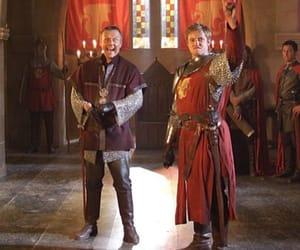 bradley james, king arthur, and uther pendragon image