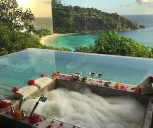 bath, pool, and luxury image