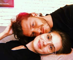 couple, tumblr, and glasses image