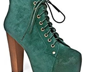 fashion, green, and jeffrey campbell image