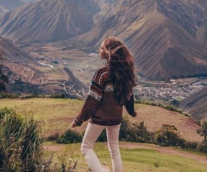 mountains, girl, and photography image
