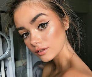 eyeliner, highlighter, and make up image