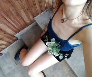 flowers, skinny, and smile image