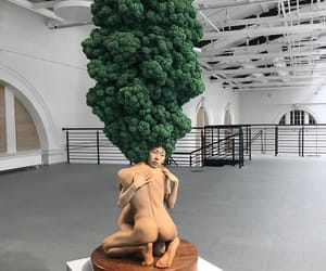 art, forest, and sculpture image
