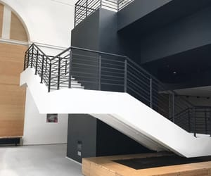 art, stairs, and white image