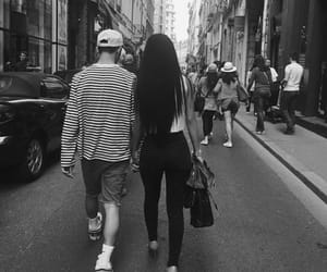 aesthetic, couple, and black and white image