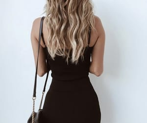 black, blond, and hair image