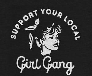 wallpaper, girl gang, and black image