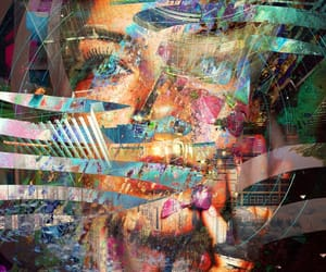 abstract, Collage, and divine image
