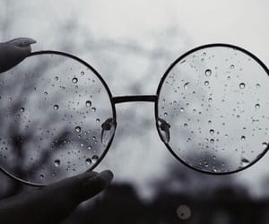 glasses, rain, and photography image
