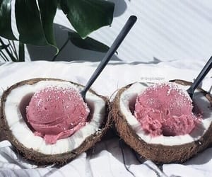 food, summer, and coconut image