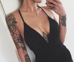 girl and tattoo image