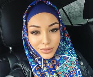 beauty, caucasus, and hijab image