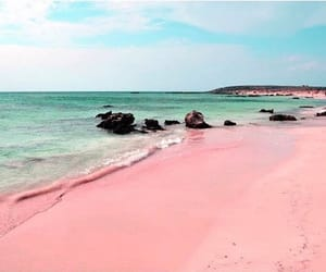 estate, rosa, and spiaggia image