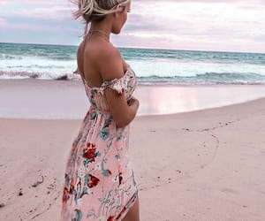 pink, beach, and beauty image