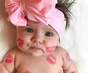 baby, baby girl, and bow image
