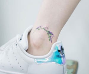 tattoo, flowers, and purple image