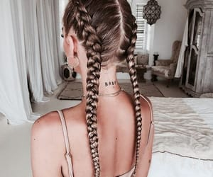 braids, hair, and girl image