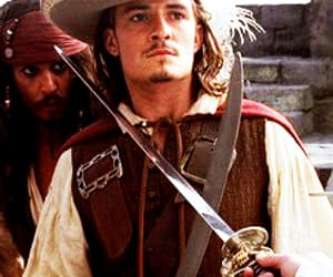 gif, jack sparrow, and keira knightley image