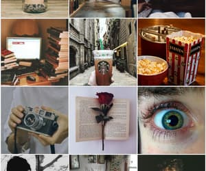books, vintage, and coffe image