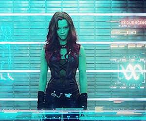gif, Marvel, and zoe saldana image