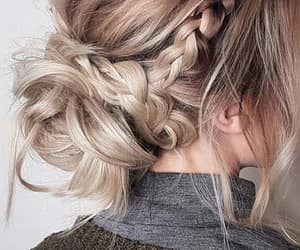 updo, blonde, and hair image
