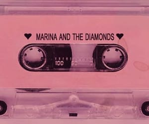 marina and the diamonds, pink, and music image