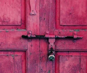 doors, pink, and vintage image