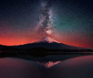 galaxy, milky way, and volcano image