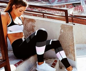 fashion, fitness, and leggings image