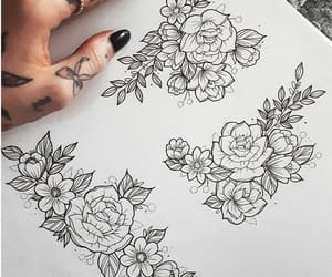 flowers, illustration, and sketch image