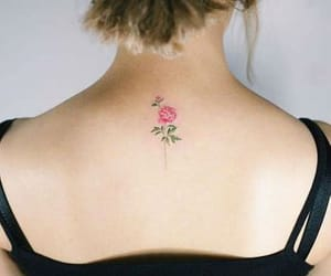 small, flower, and tattoo image