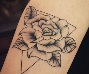 flower, ink, and linework image