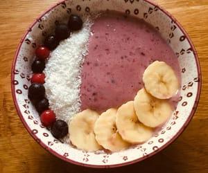 banana, bowl, and FRUiTS image