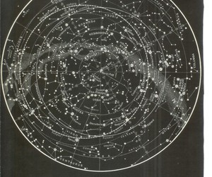 constellation, stars, and black and white image
